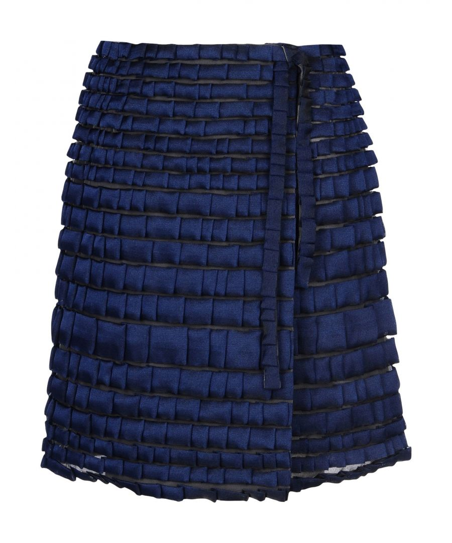 Image for Giorgio Armani Dark Blue Tulle Skirt