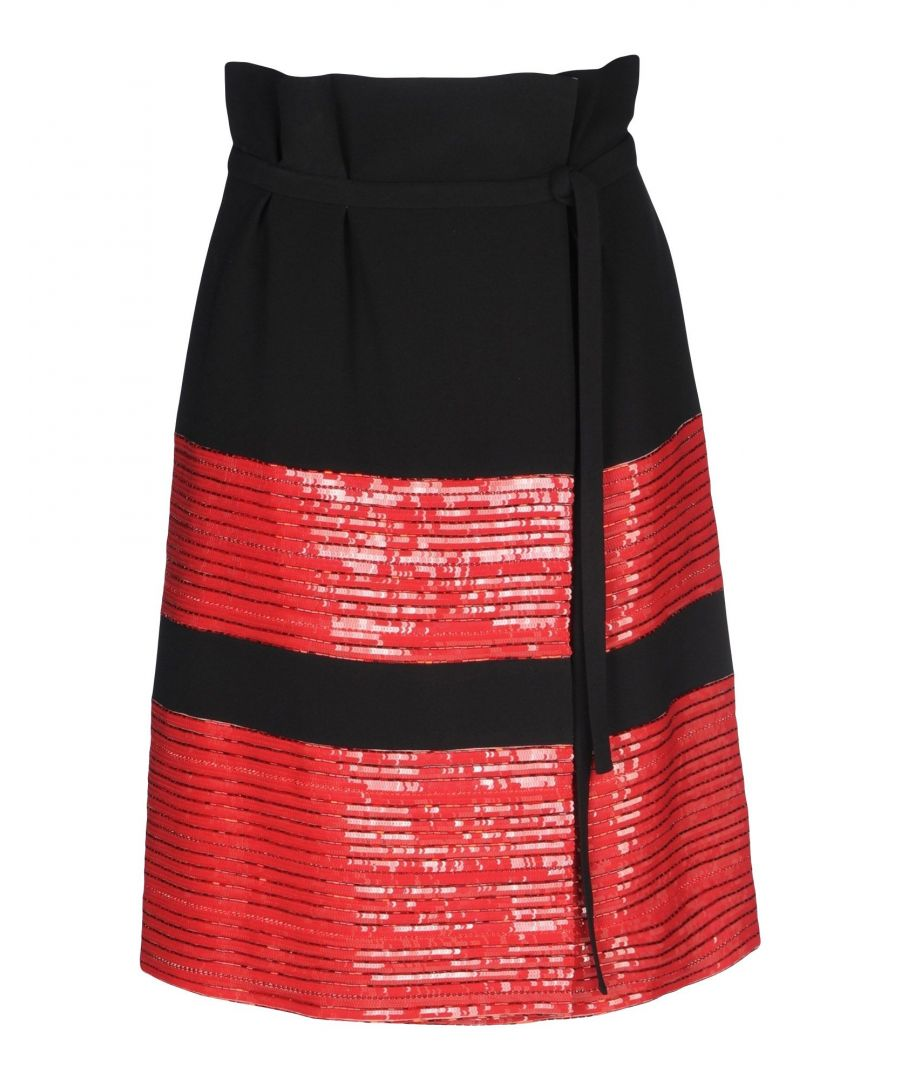 Image for Giorgio Armani Black Silk Beaded Skirt