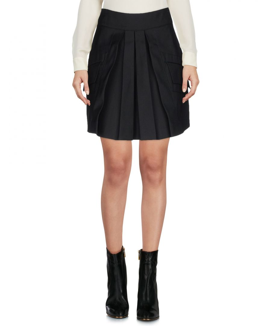 Image for Antonio Berardi Black Cotton Mini Skirt