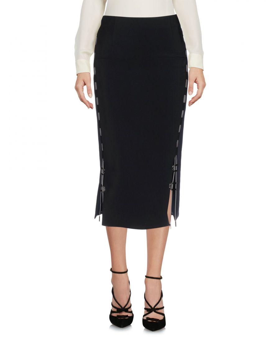 Image for Antonio Berardi Black Cotton Midi Skirt