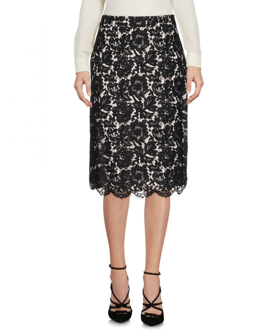 Image for Les Copains Black Lace Knee Length Skirt