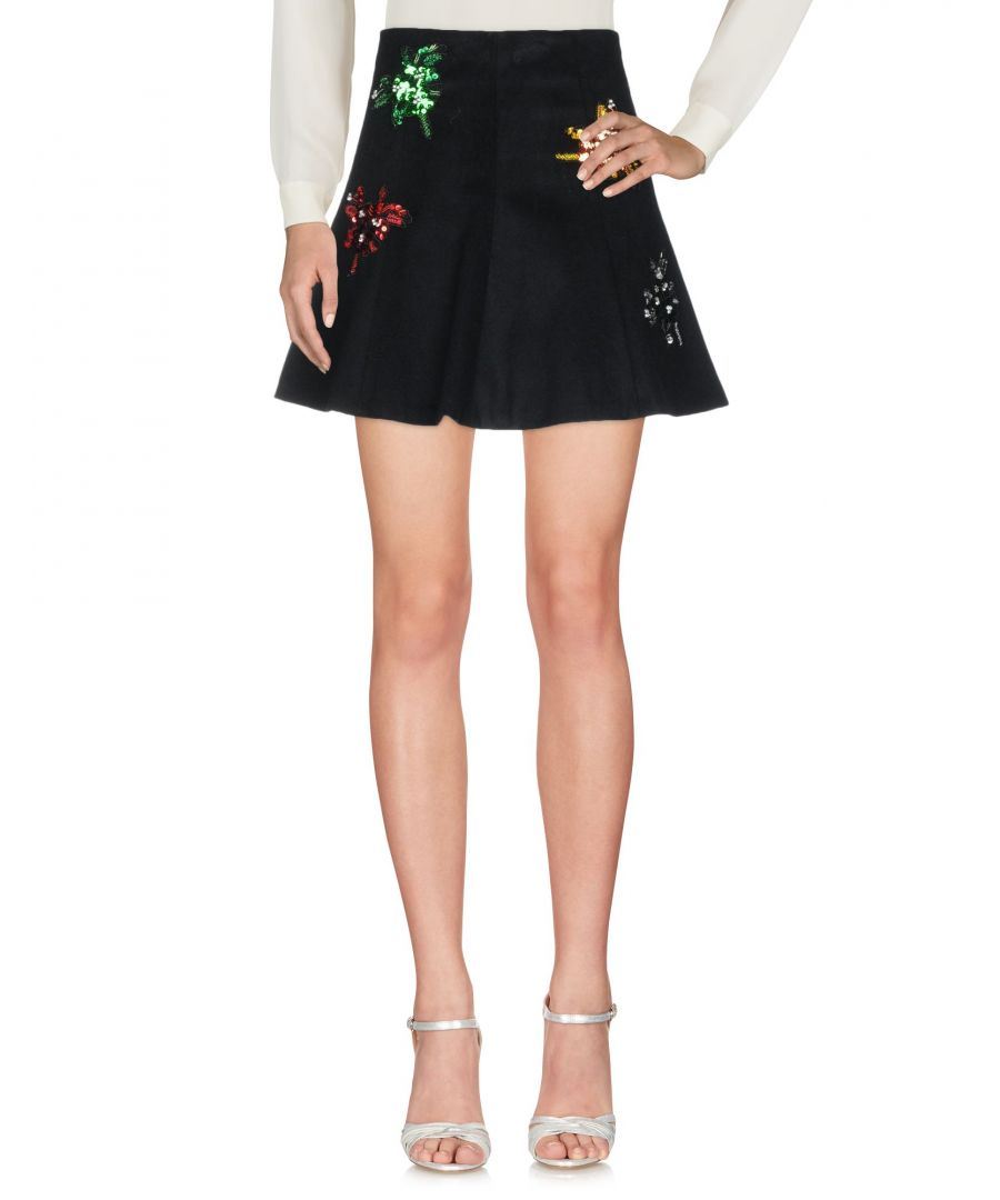 Image for Gaelle Paris Black Wool Sequinned Skirt