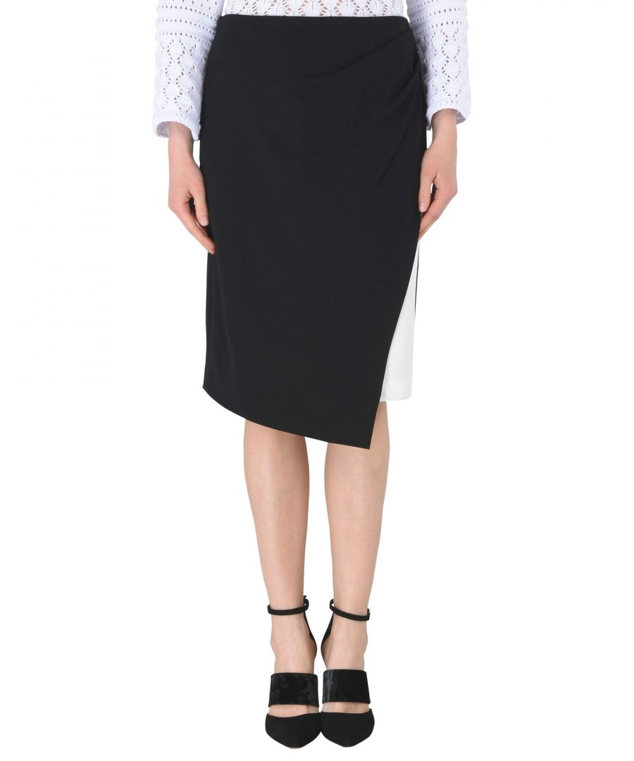 Image for Dkny Black Polyester Knee Length Skirt