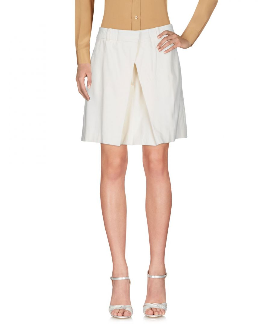 Image for SKIRTS Mcq Alexander Mcqueen Ivory Woman Rayon