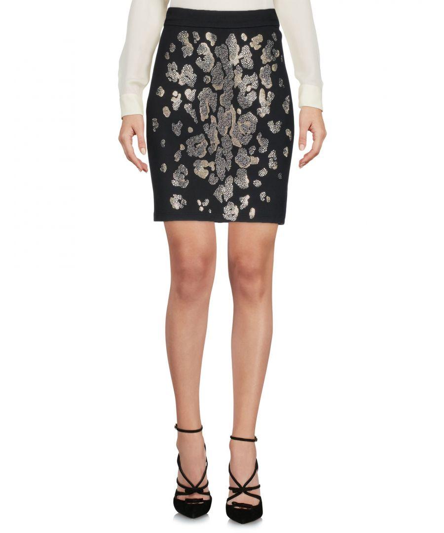 Image for Just Cavalli Black Jersey Embellished Skirt