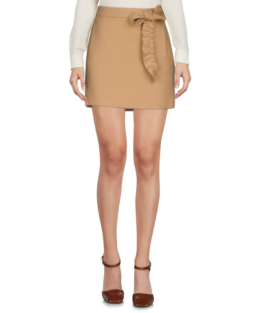 Image for Mauro Grifoni Camel Mini Skirt