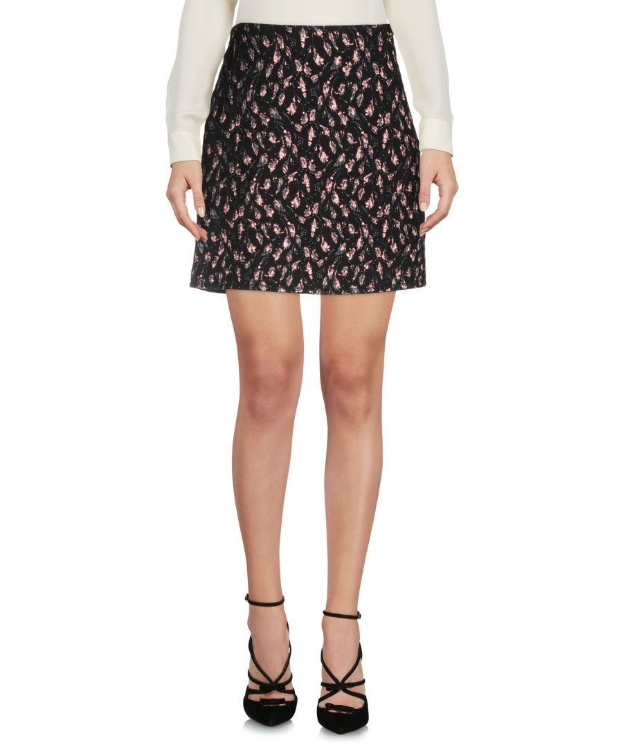 Image for Blugirl Blumarine Black Floral Print Short Skirt