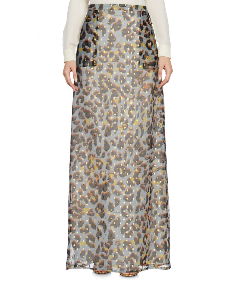 Image for L' Autre Chose Sky Blue Silk Full Length Skirt
