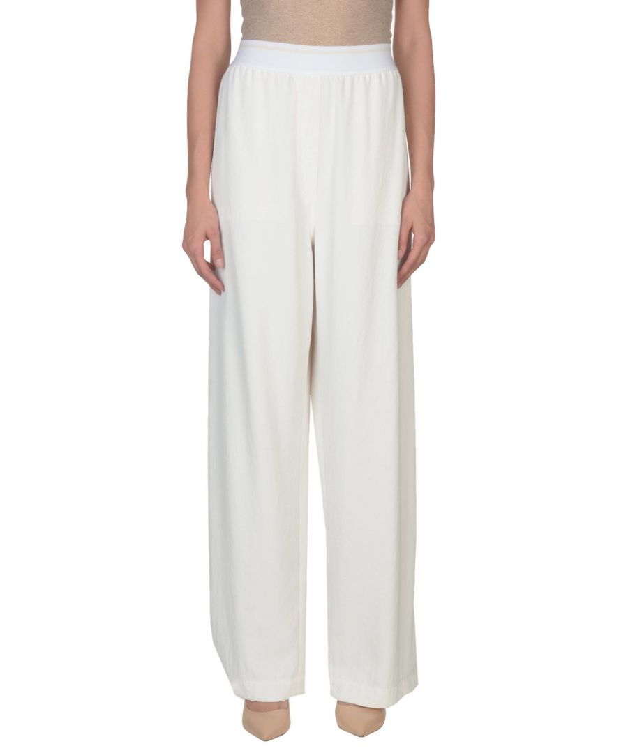 Image for DKNY Ivory Wide Leg Trousers