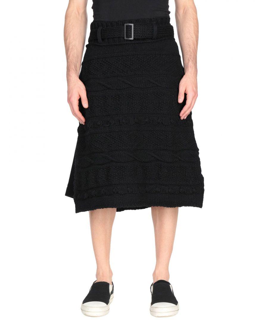 Image for Yohji Yamamoto Black Wool Knit Skirt