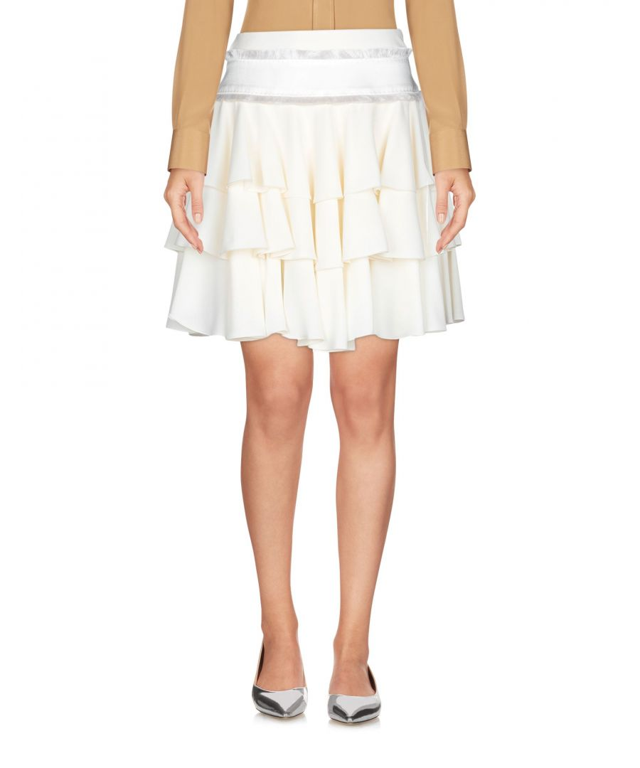 Image for Antonio Berardi Ivory Tiered Mini Skirt