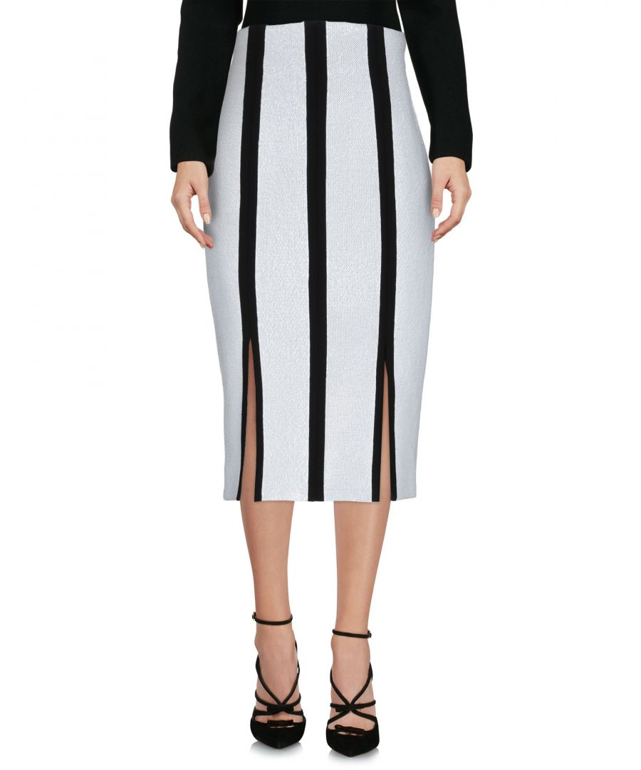 Image for Diane Von Furstenberg White Stripe Pencil Skirt