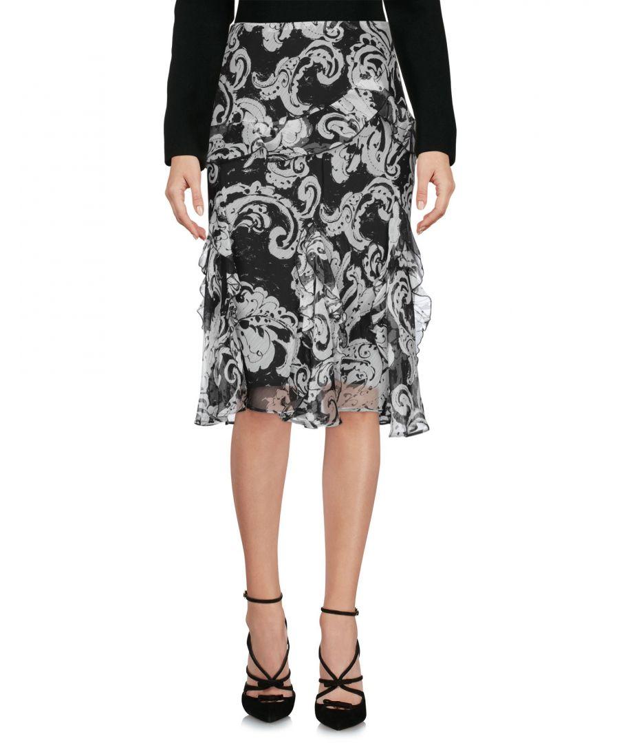Image for Lauren Ralph Lauren White Chiffon Ruffle Skirt