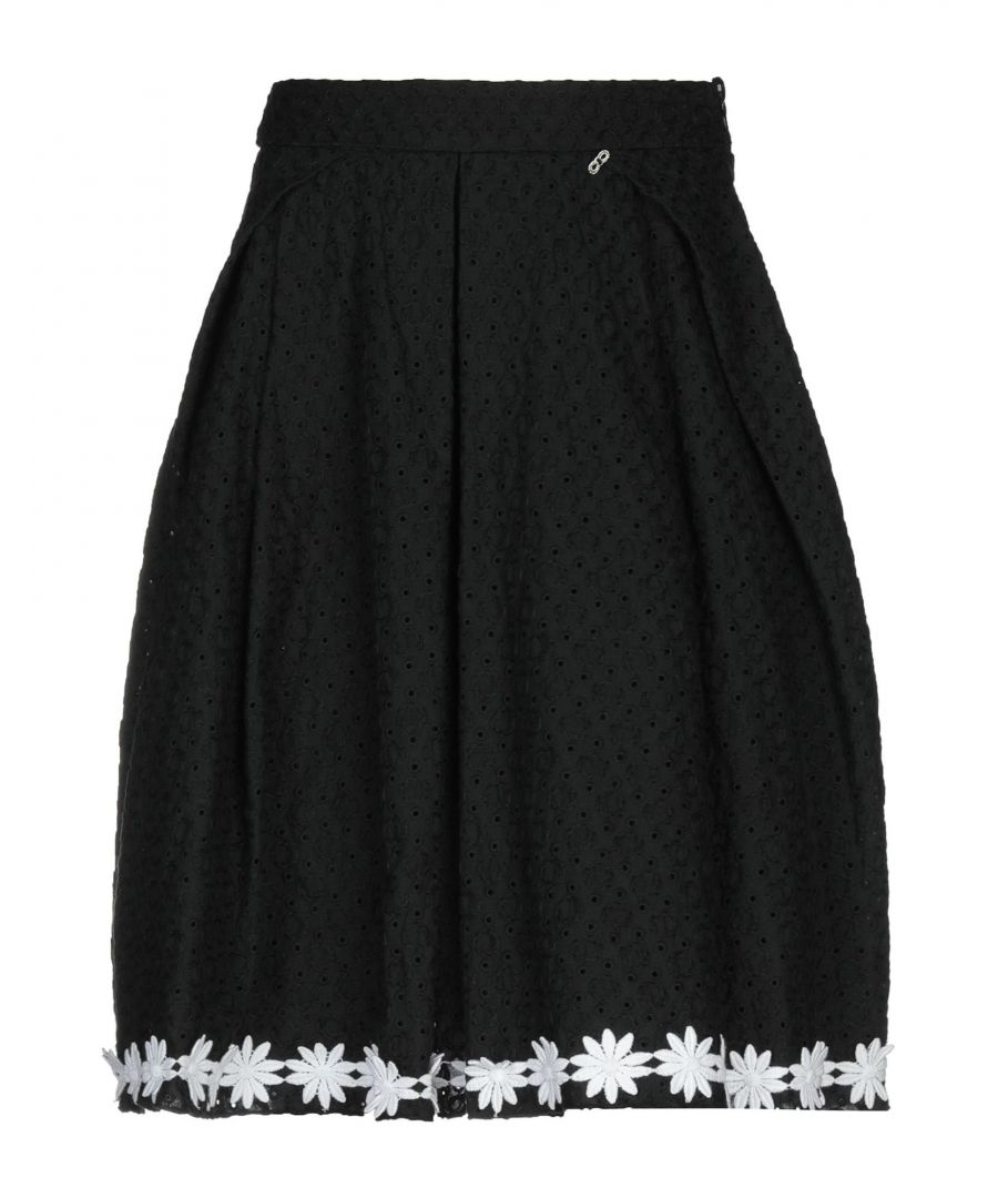 Image for Imperial Black Cotton Lace Skirt