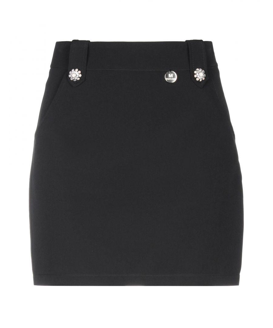 Image for Mangano Black Crepe Embellished Skirt