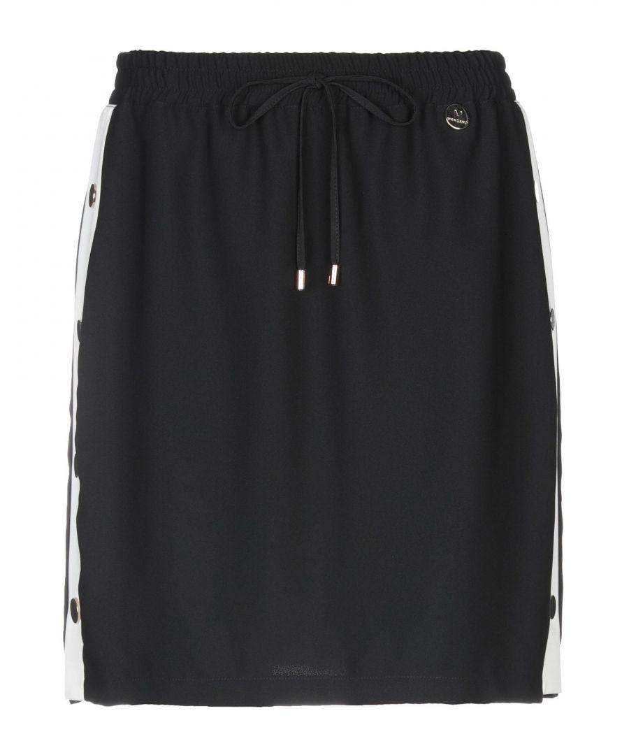 Image for Mangano Black Crepe Skirt