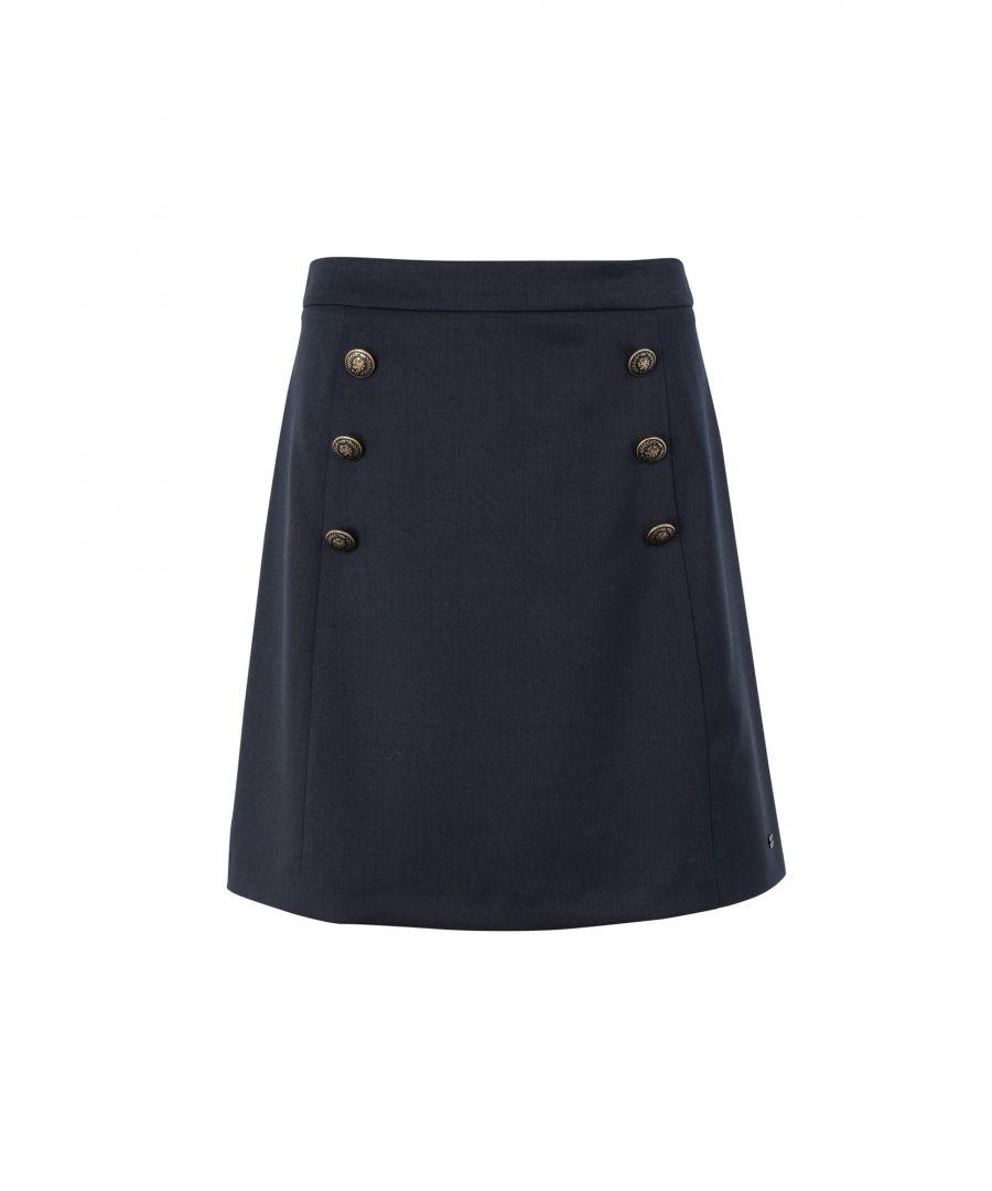 Image for Tommy Hilfiger Blue Flannel Skirt