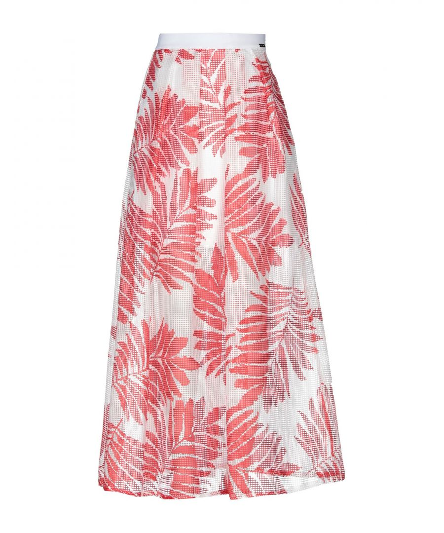 Image for Cristinaeffe Red Print Full Length Skirt