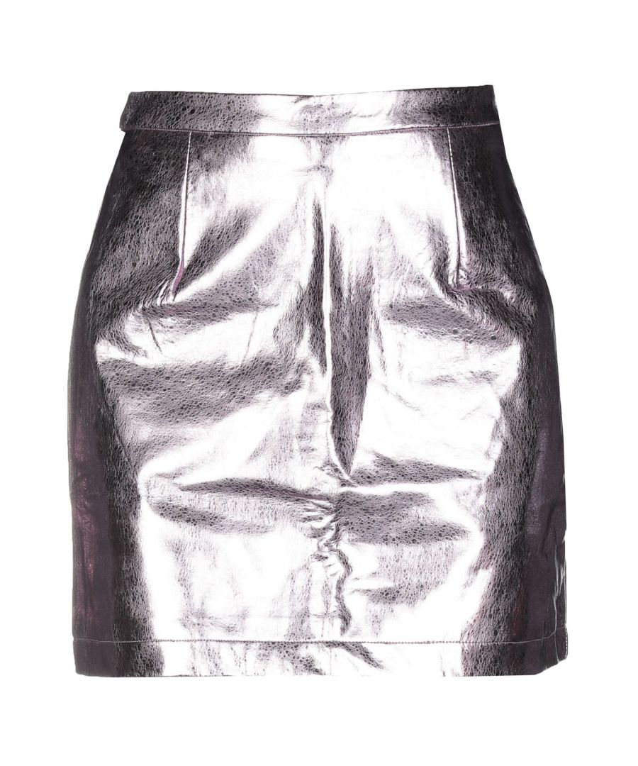 Image for Glamorous Light Pink Metallic Mini Skirt