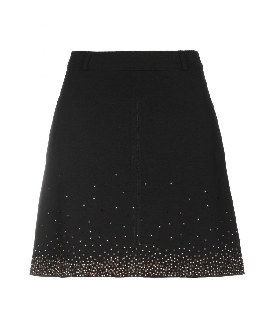 Image for Versace Jeans Black Embellished Skirt
