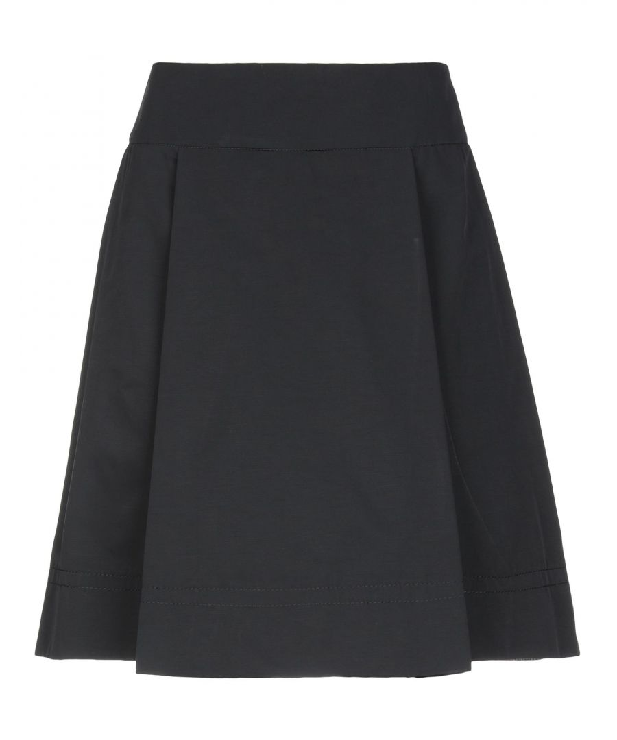 Image for C.P. Company Black Cotton A-Line Skirt