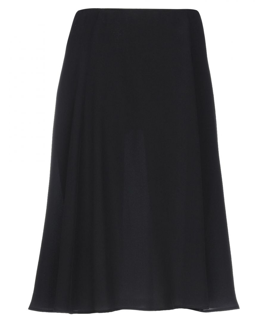 Image for Prada Black Silk Skirt