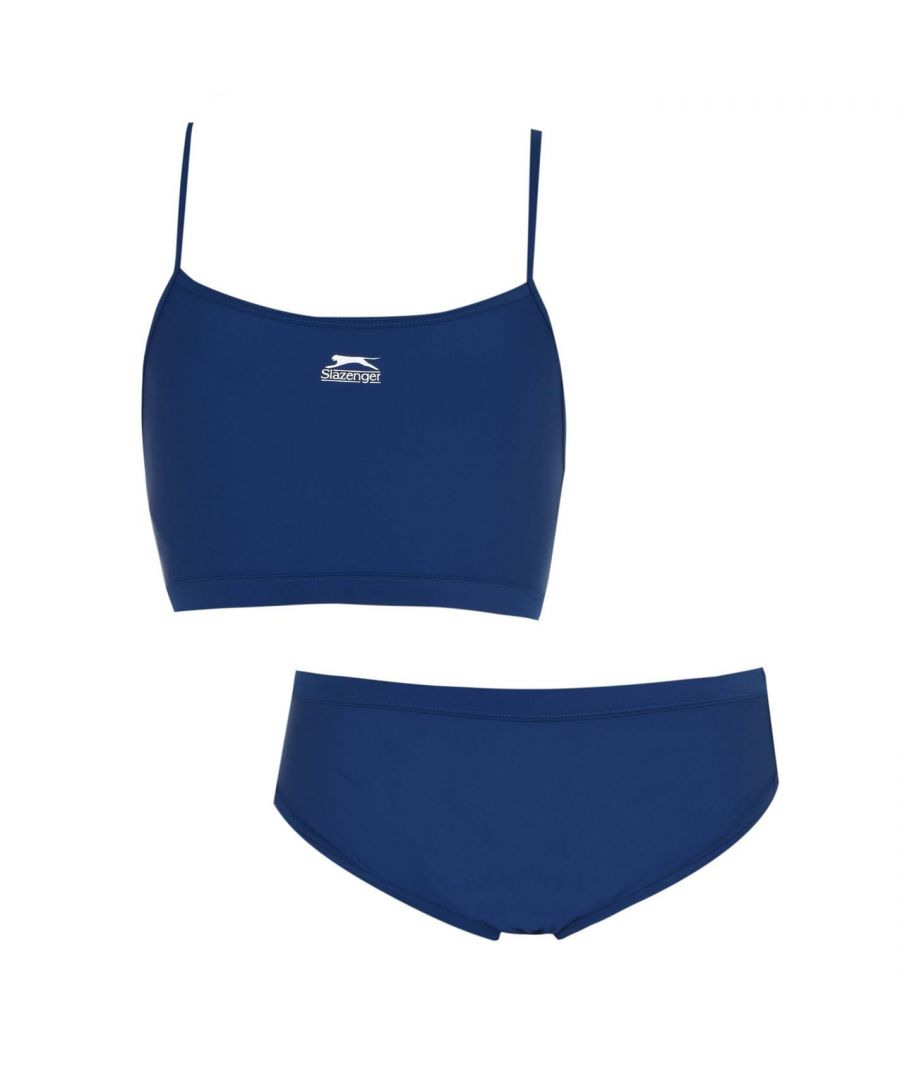Image for Slazenger Womens Sport Bikini Thin Straps Mesh Lined Front Top Bottom Sea Pool