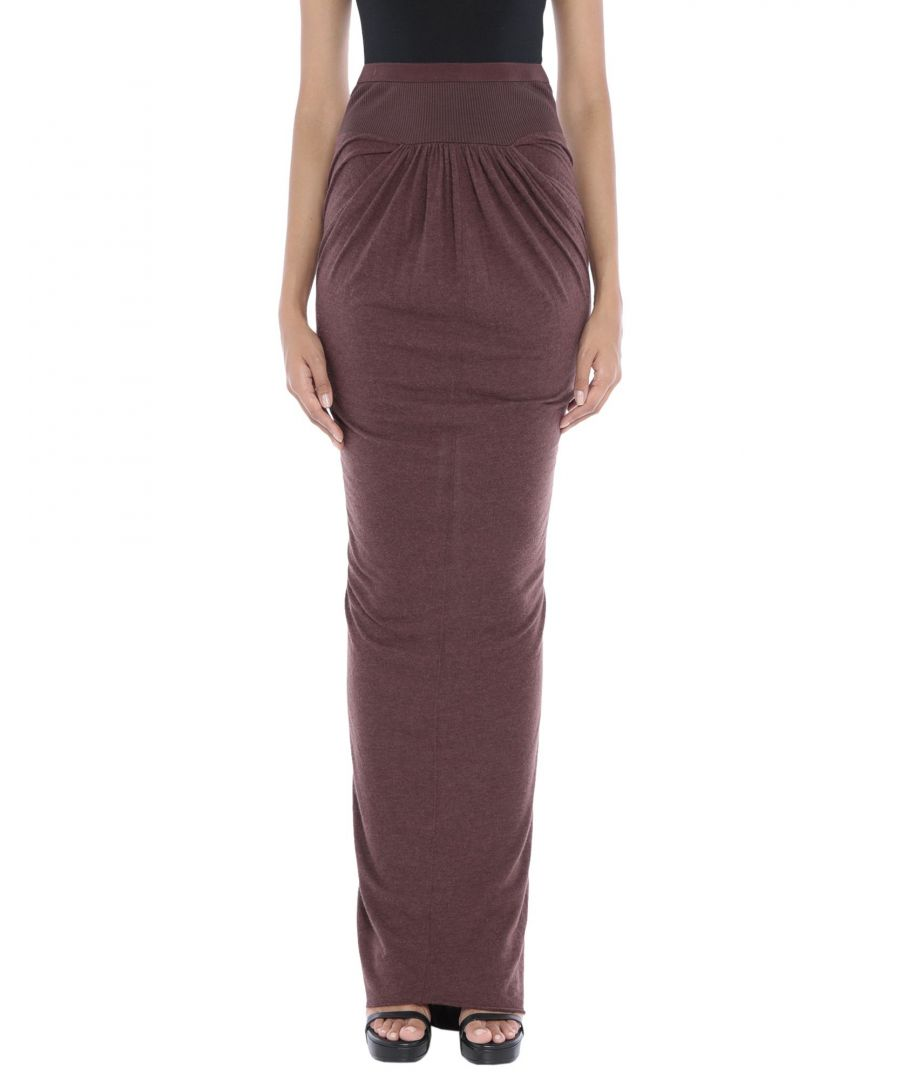 Image for Rick Owens Lilies Maroon Knit Full Length Skirt