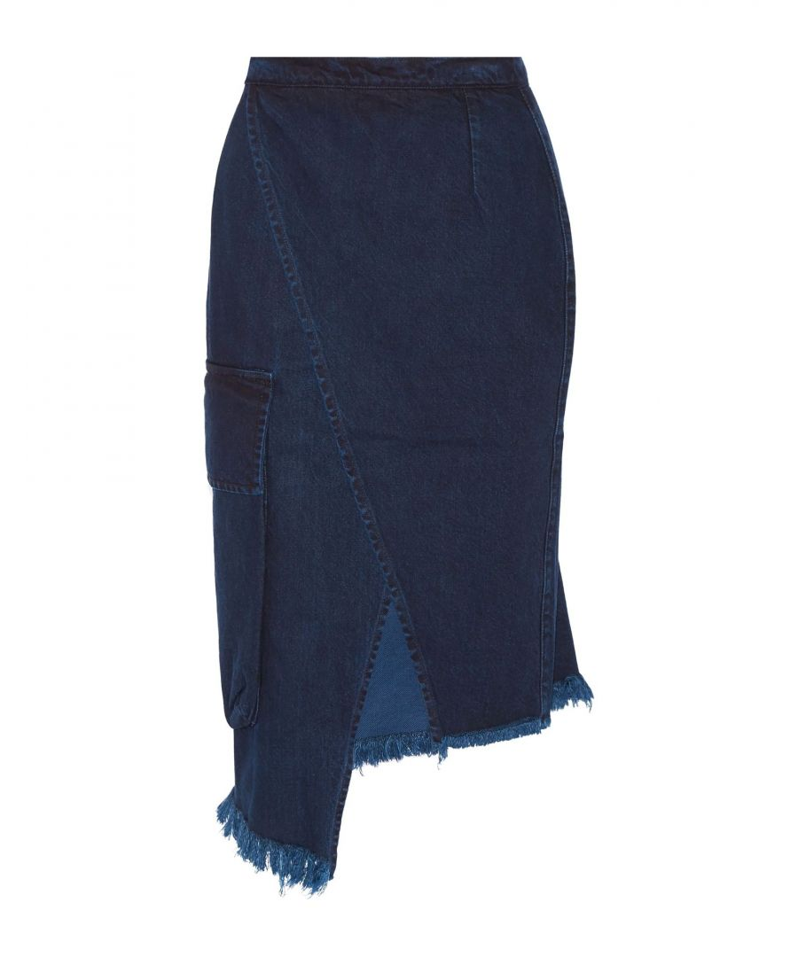 Image for Marques' Almeida Blue Cotton Skirt