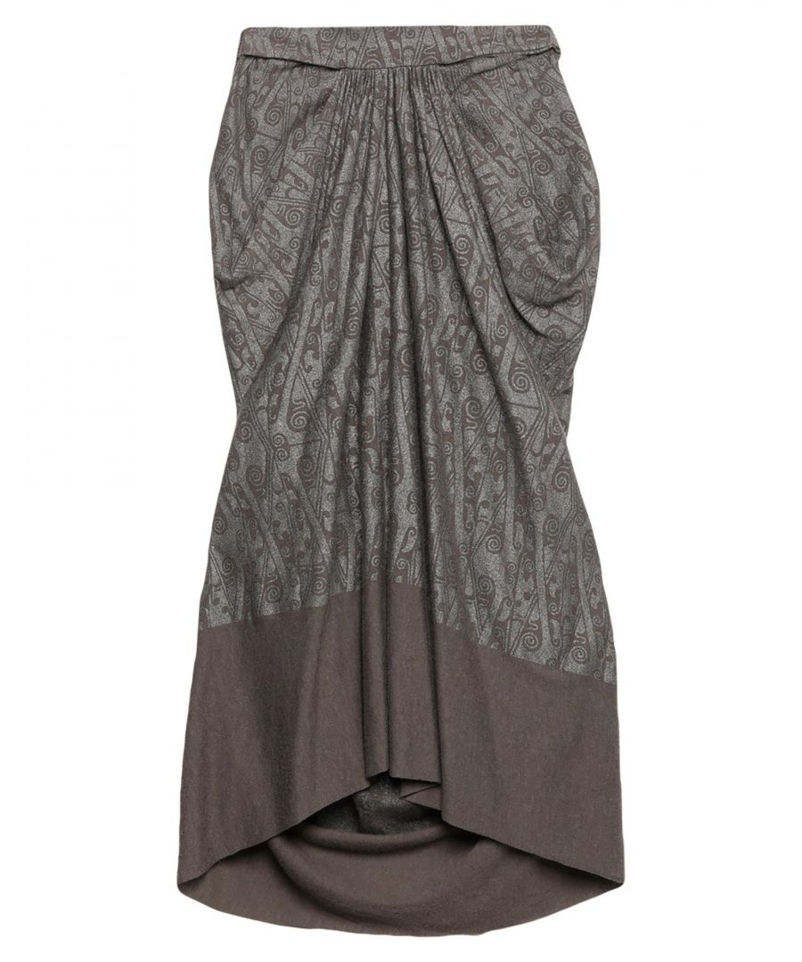 Image for Rick Owens Lilies Lead Draped Jersey Skirt
