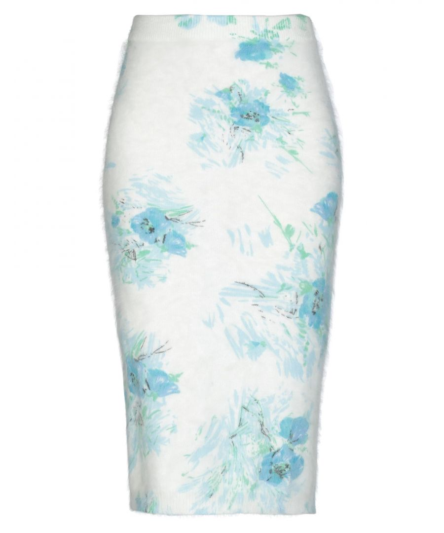 Image for Prada White Angora Lightweight Knit Skirt