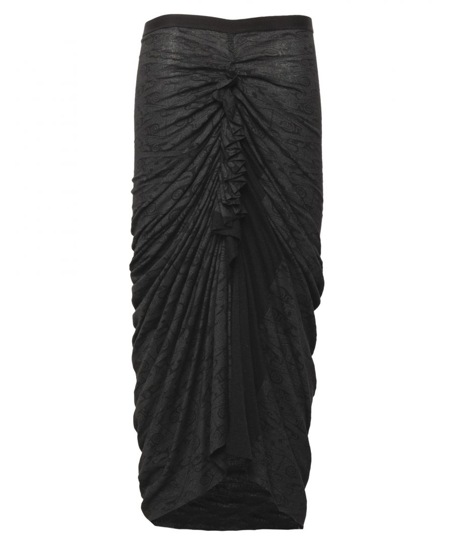 Image for Rick Owens Lilies Black Jersey Skirt