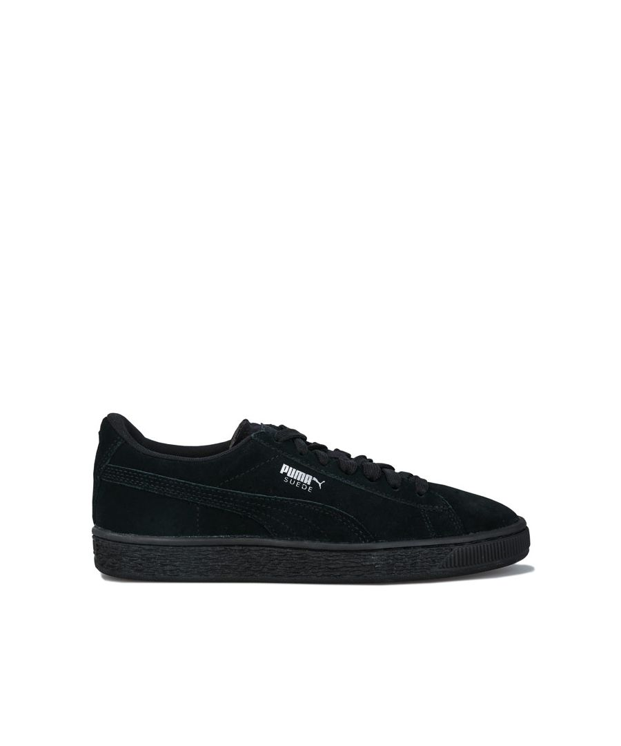 Image for Boy's Puma Junior Suede Trainers in Black