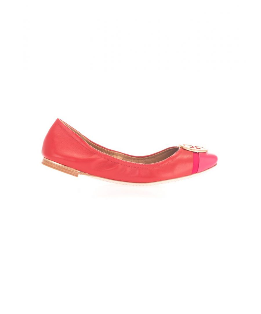 Image for TORY BURCH WOMEN'S 63174621 RED LEATHER FLATS
