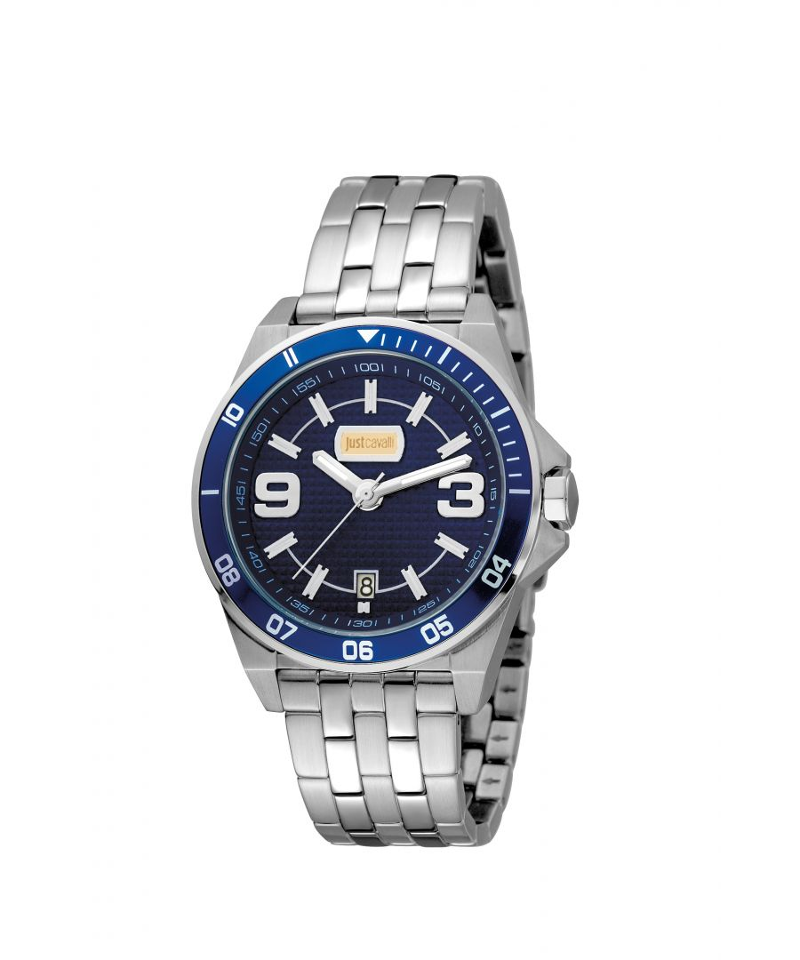 Image for Just Cavalli JC1G014M0075 Mens Stainless steel watch with dark blue dial