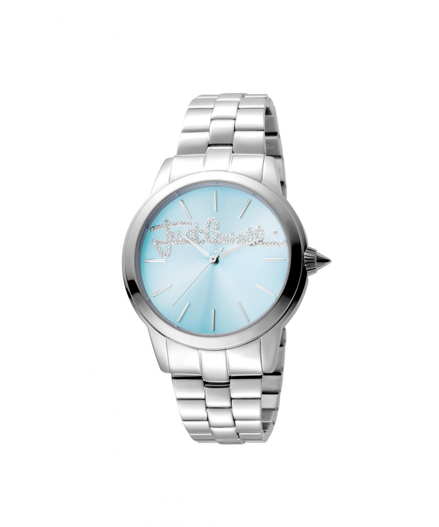 Image for Just Cavalli JC1L006M0065 LOGO Womens Ice Blue Watch
