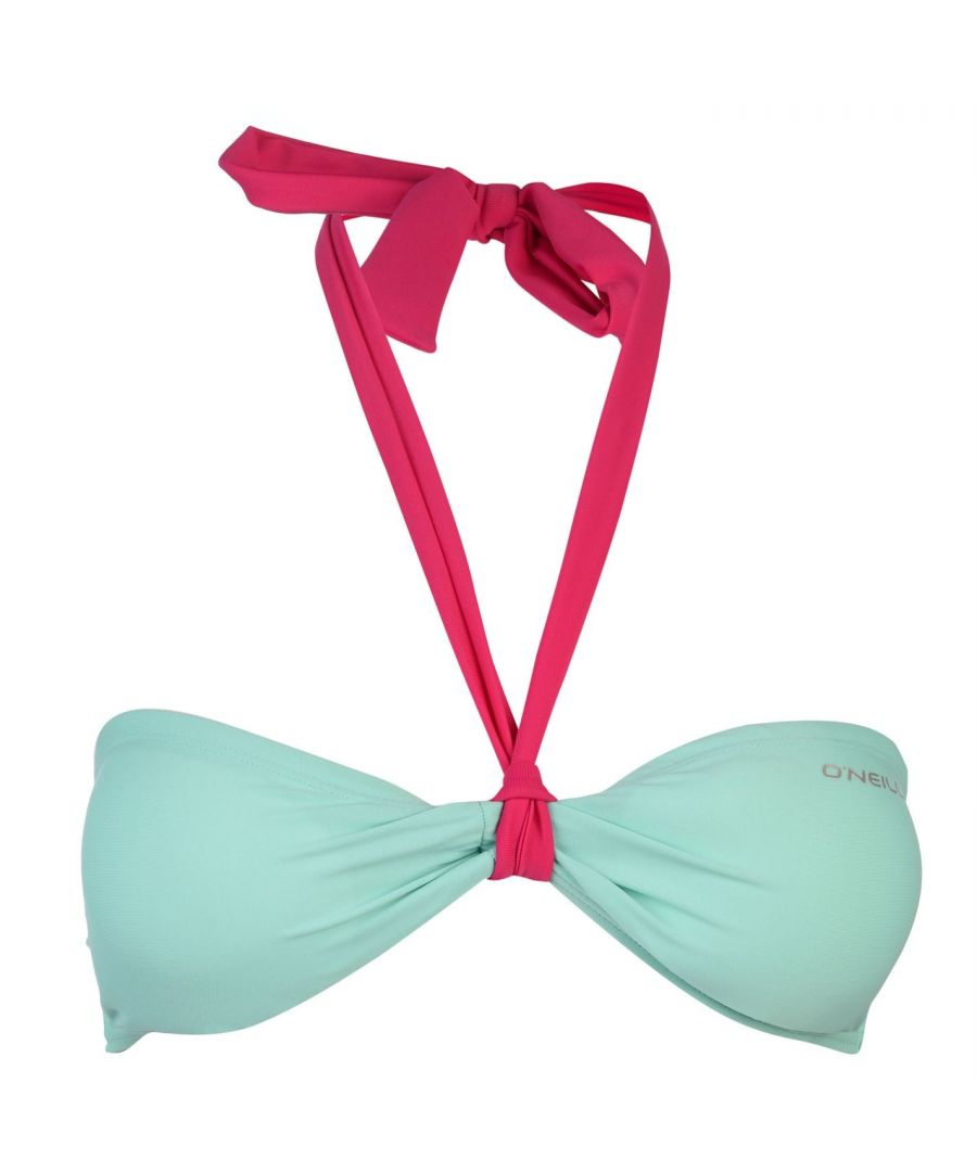 Image for ONeill Womens MM Solid Bandeau Bikini Top Bra Swimwear Clip Back Fastening