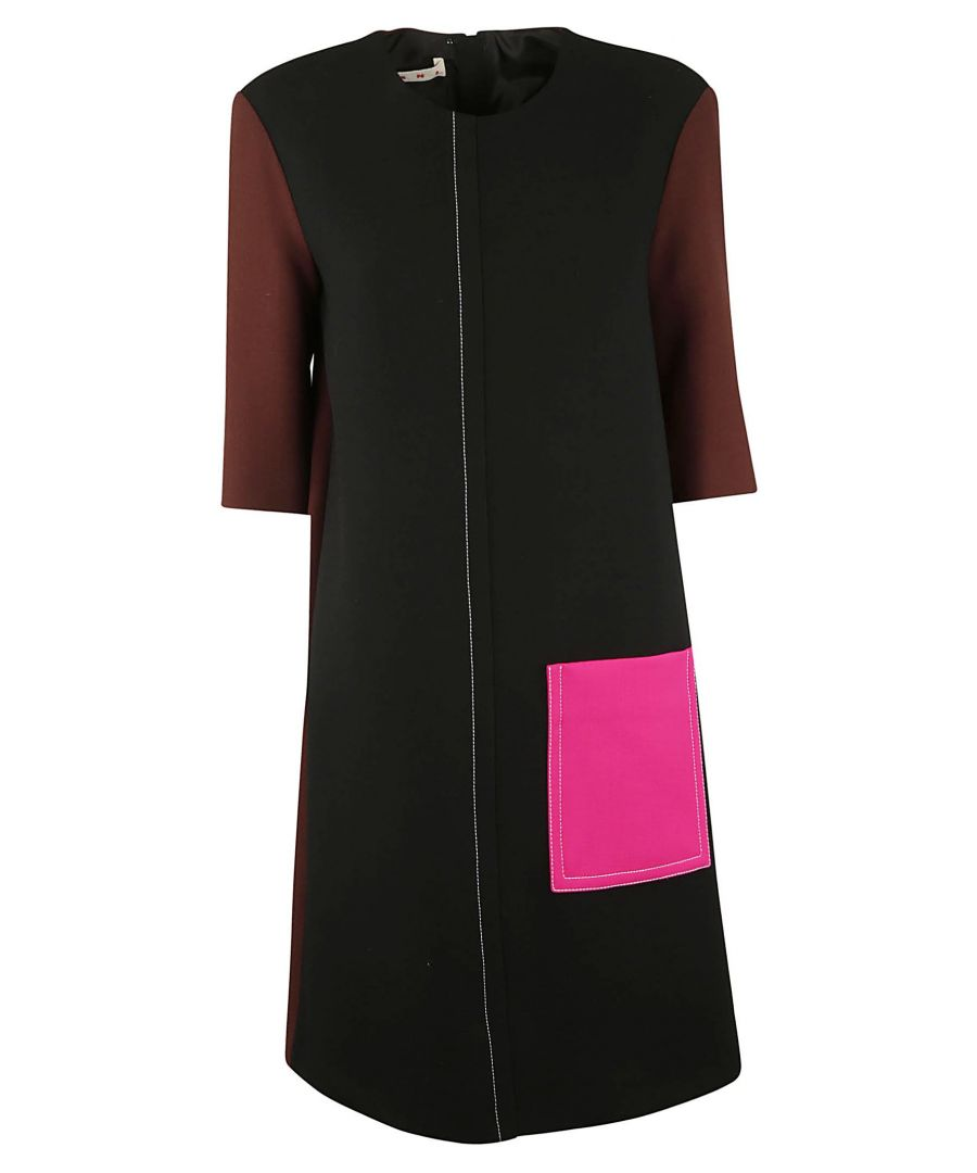 Image for MARNI WOMEN'S ABMAU57QU3TW420Y4015 BLACK WOOL DRESS