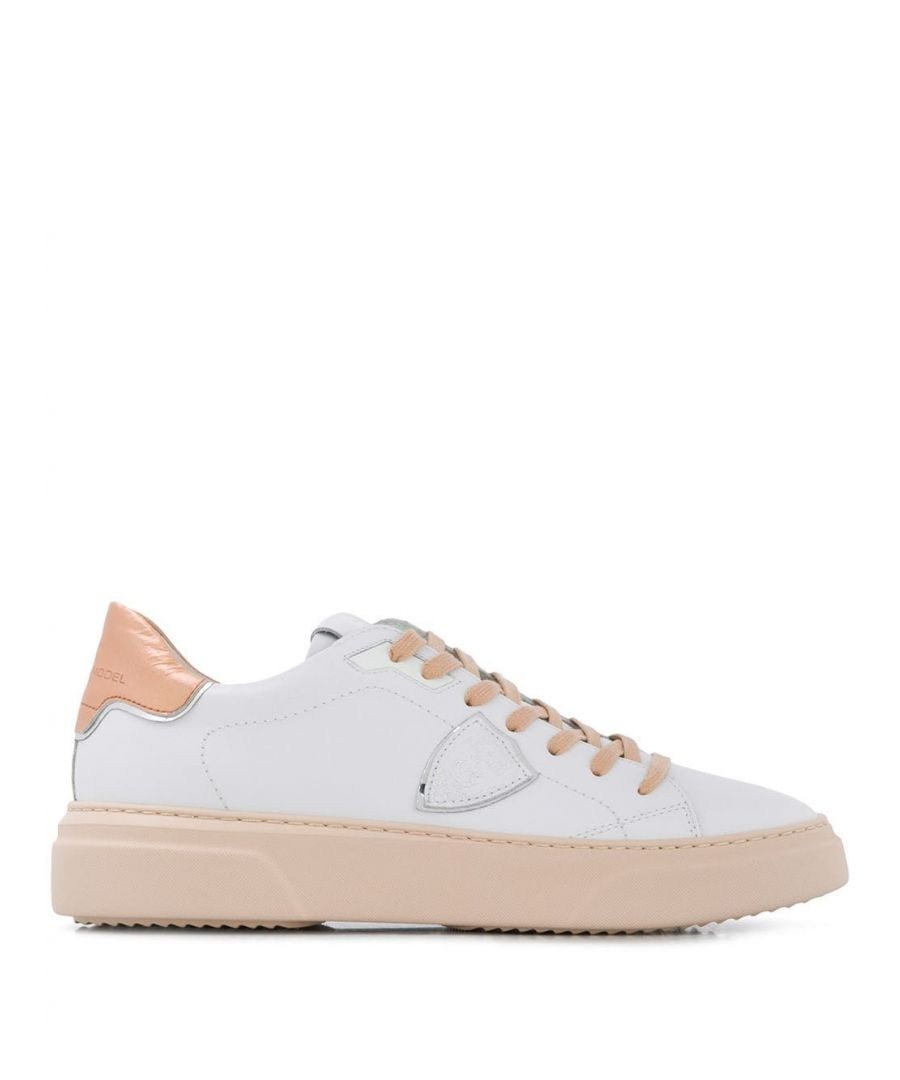Image for PHILIPPE MODEL WOMEN'S BYLDVM01 WHITE LEATHER SNEAKERS