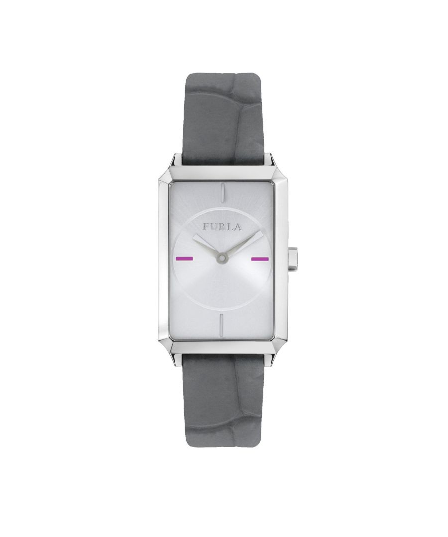 Image for Furla R4251104503 22X32Mm 2H Silver Dial Beige