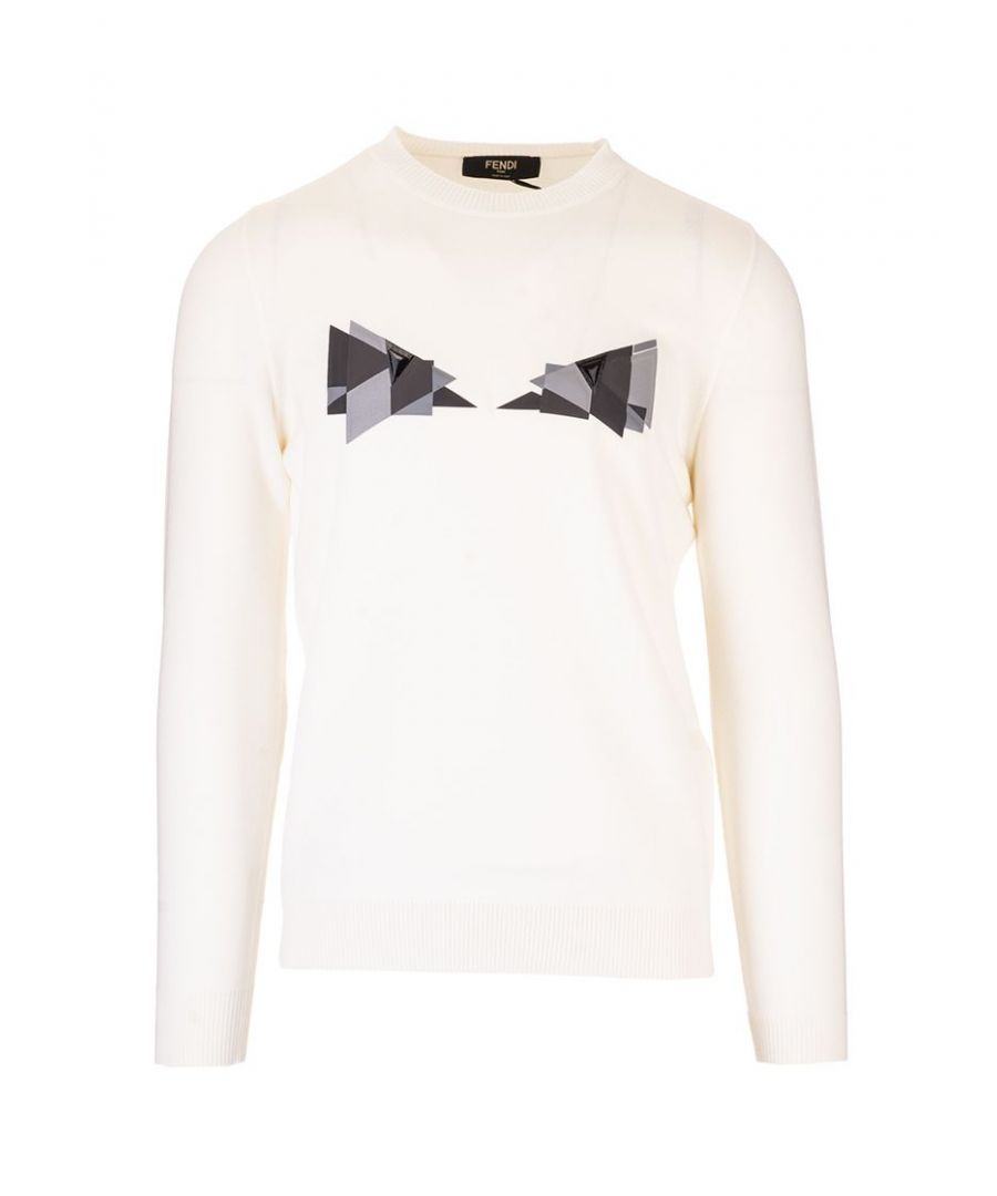 Image for FENDI MEN'S FAE537AAY3F0ZNM WHITE COTTON SWEATER