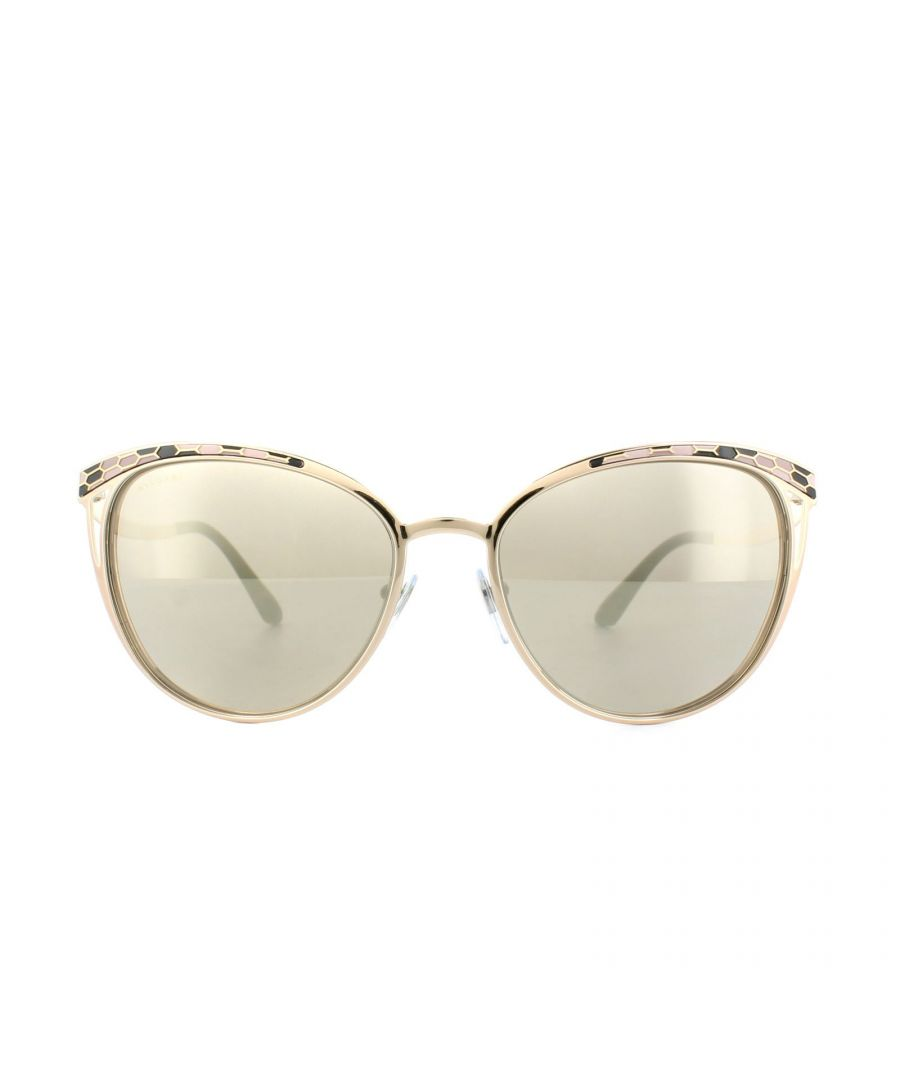 Image for Bvlgari Sunglasses 6083 20145A Rose Gold Brown Gold