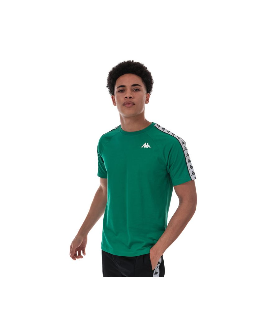 Image for Men's Kappa Coen Banda T-Shirt in Green White