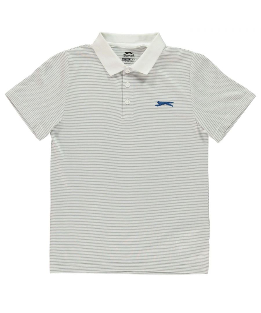 Image for Slazenger Boys Micro Stripe Polo Shirt Junior Short Sleeve Collared Neck Tee Top