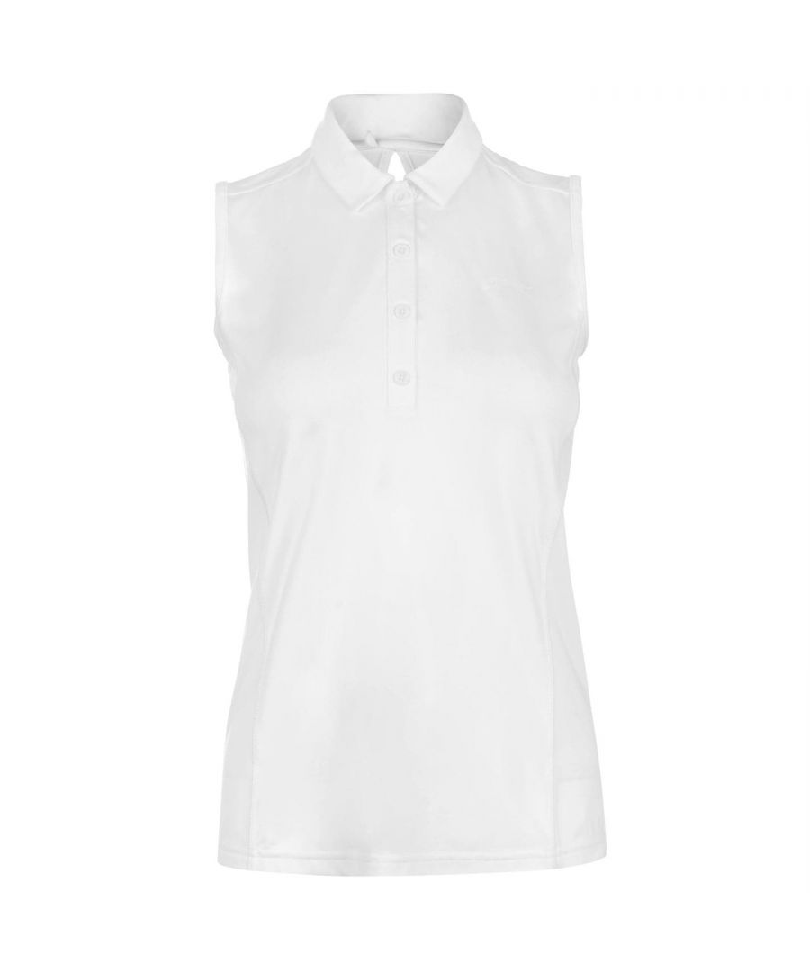 Image for Slazenger Womens Sleeveless Polo Shirt Ladies Tee T-Shirt Top Collared Neck