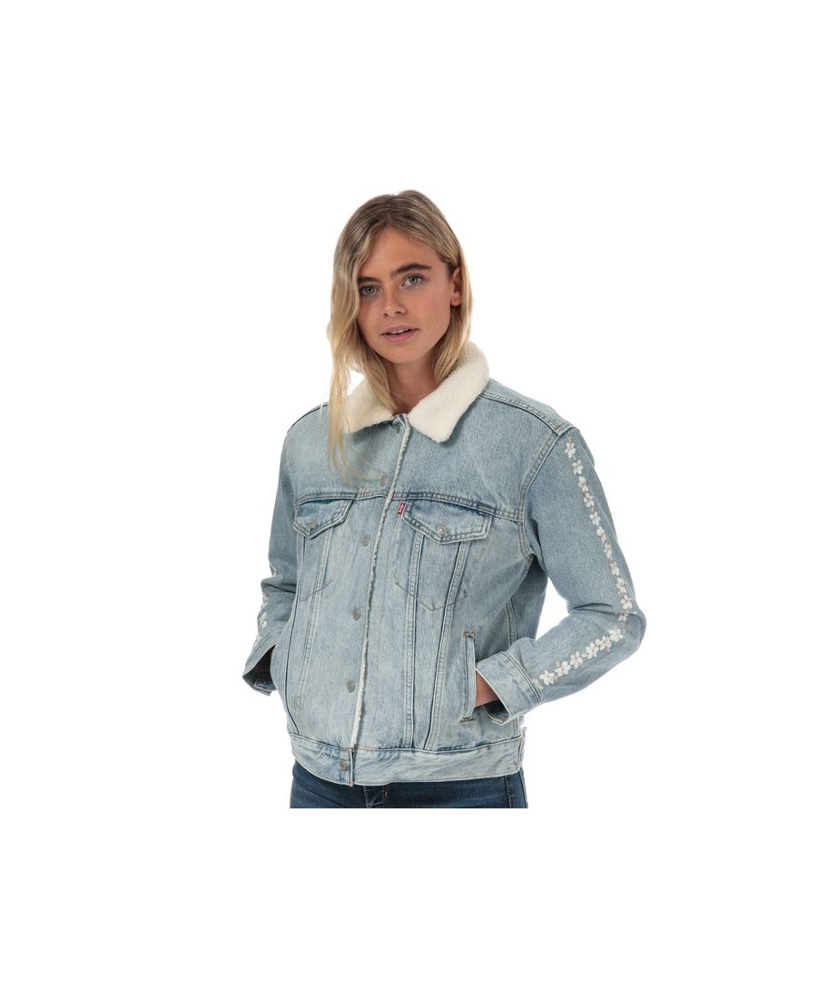 Image for Women's Levis Ex-Boyfriend Sherpa Trucker Jacket in Denim