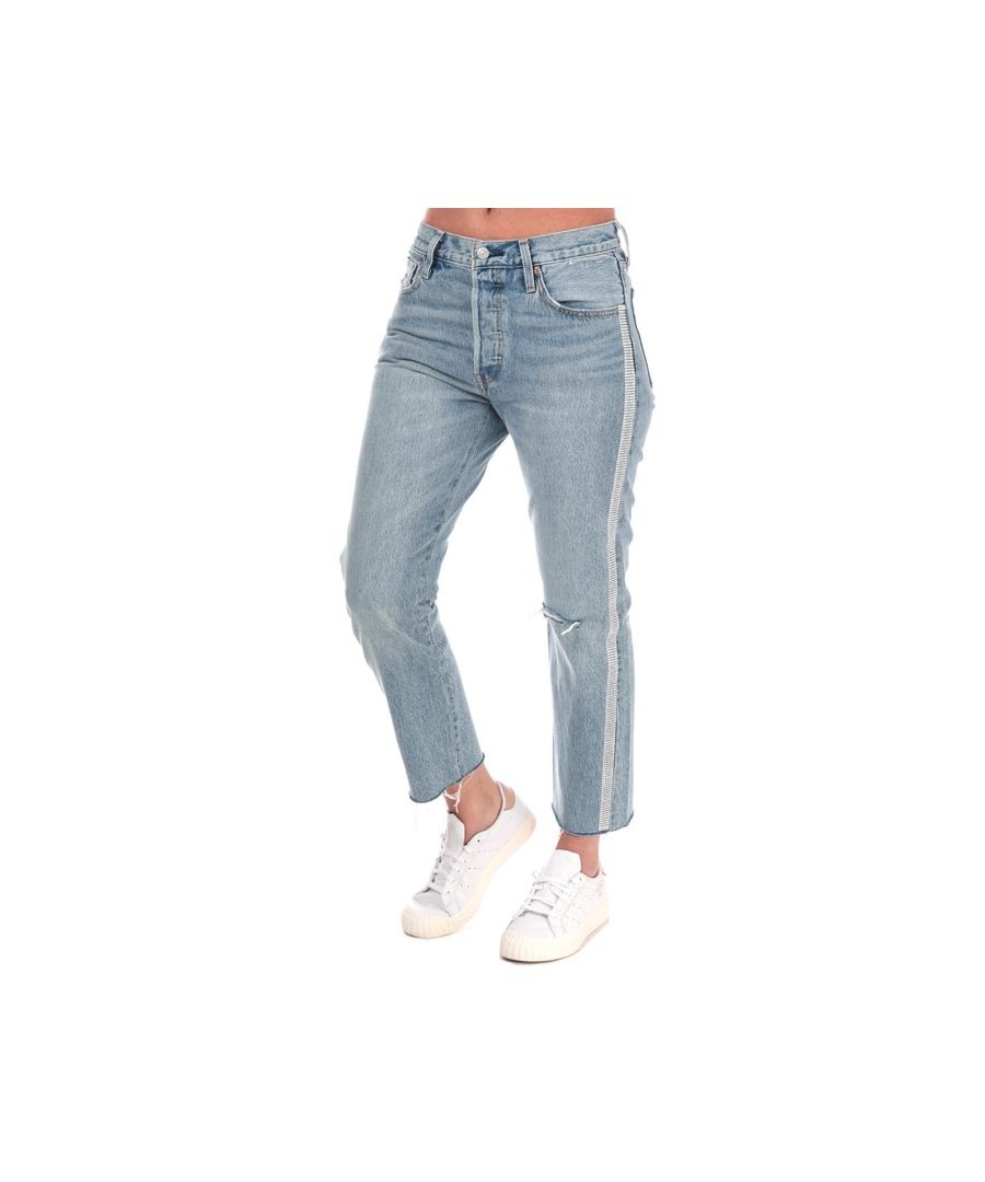 Image for Women's Levis 501 Crop Diamond In The Rough Jeans in Denim