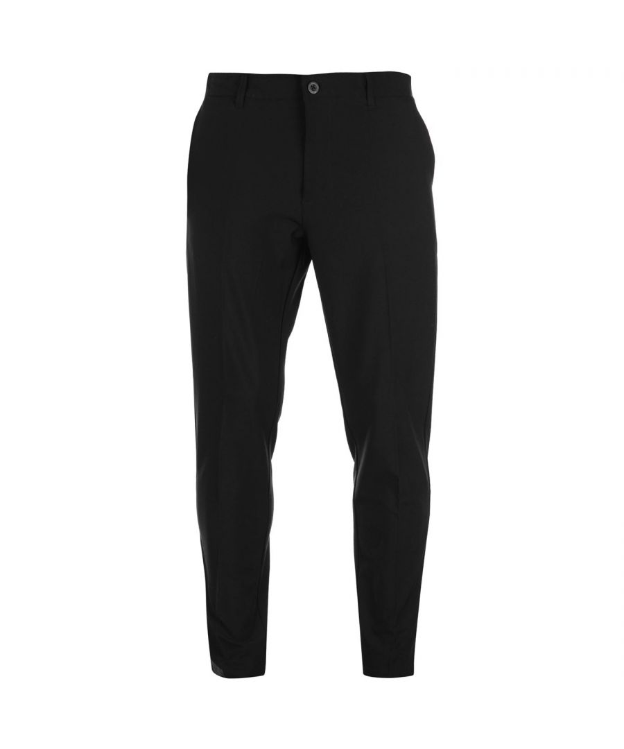 Image for Slazenger Mens Performance Golf Trousers Classic Zip Pants Bottoms Slim Fit