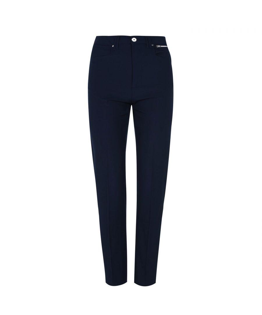 Image for Slazenger Womens Golf Trousers Pants Buttoned Waist Zip Fly Standard Fit Bottom
