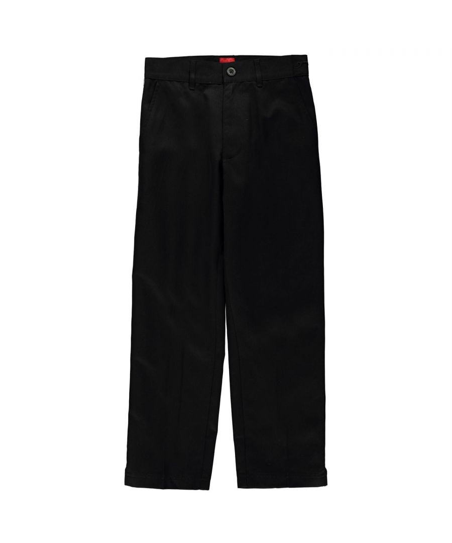 Image for Slazenger Kids Boys Golf Trousers Junior Pants Bottoms Lightweight Zip Block